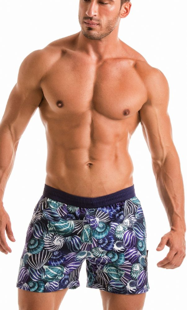 Geronimo Men's Blue Swimming  Shorts 1903p1